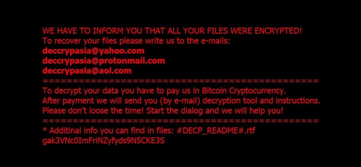 DECP ransomware