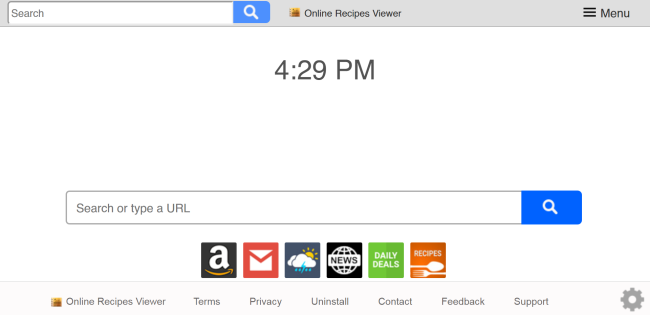 delete Search.viewfreerecipestab.com virus