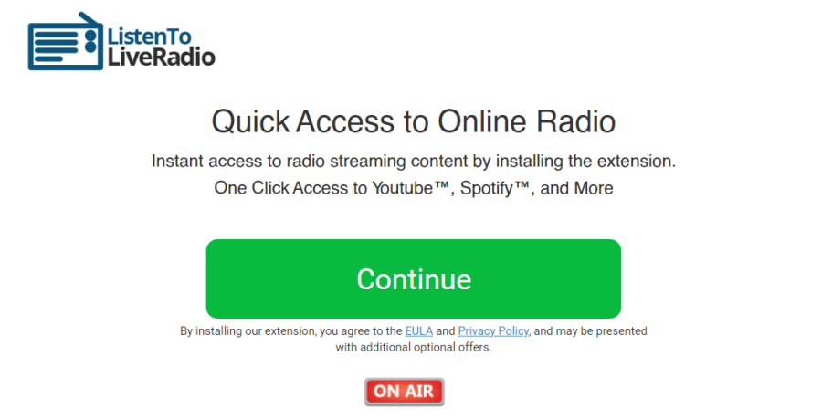 delete Listentoliveradio.net virus
