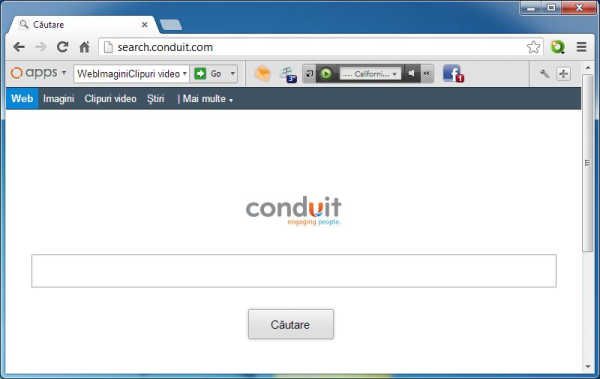 conduit toolbar and search page