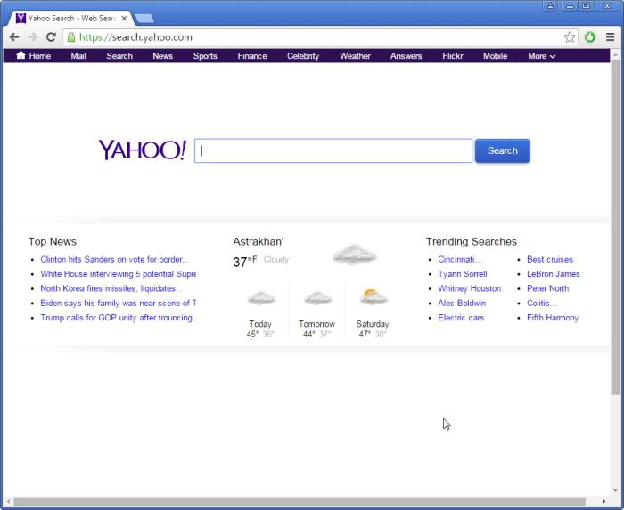 search.yahoo.com page