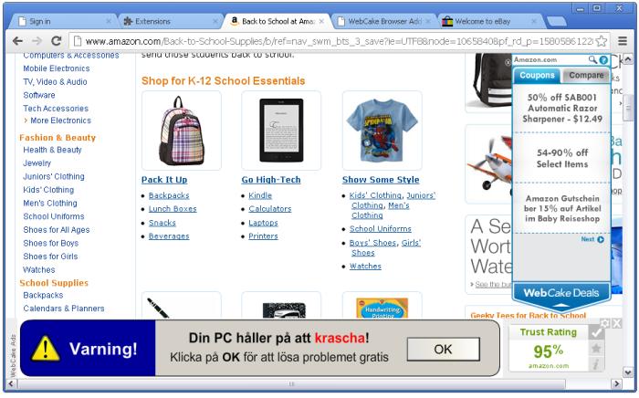 WebCake ads