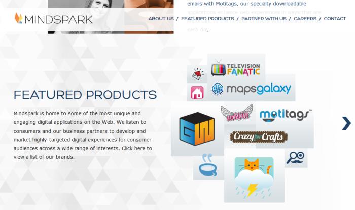 Mindspark toolbars site