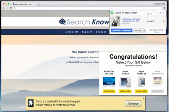 Search Web Know ads