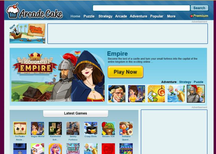 ArcadeCake page