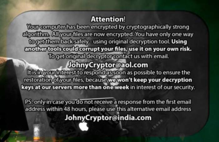 JohnyCryptor note