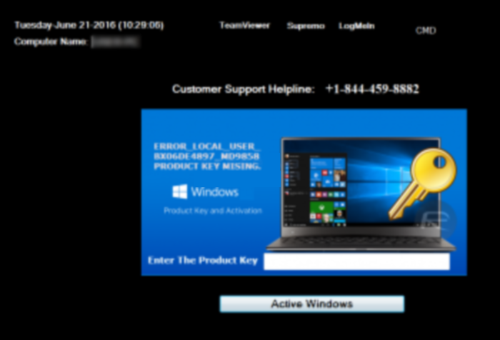 Remove windowsactivationupdate and active windows (support scam.