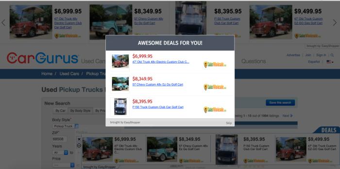 EasyShopper ads