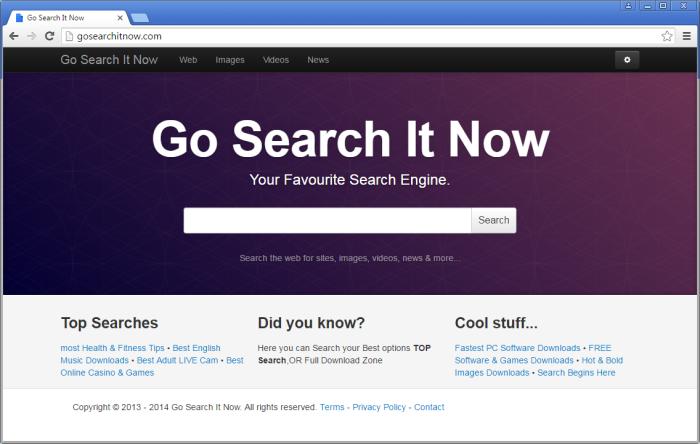 Gosearchitnow.com page