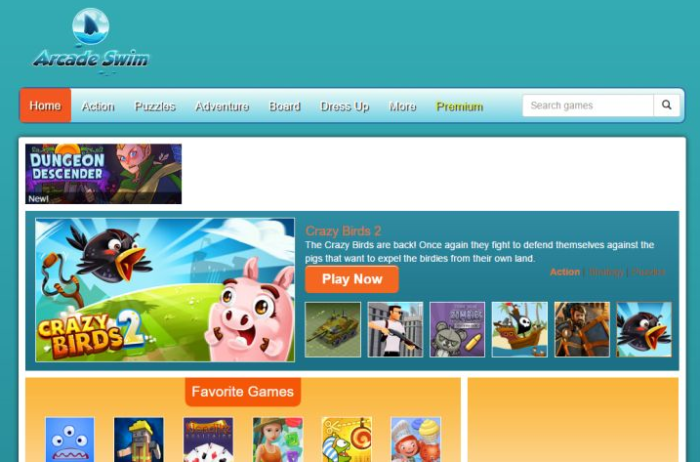 ArcadeSwim website