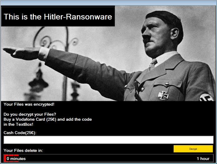 Hitler ransomware notification
