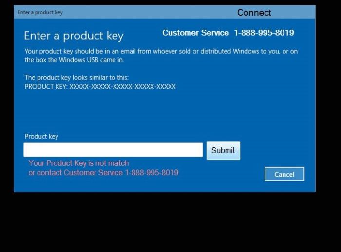 Windows Activation Error Code 0x43098 lock screen