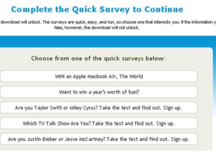 Aferesearchgroup.com fake survey