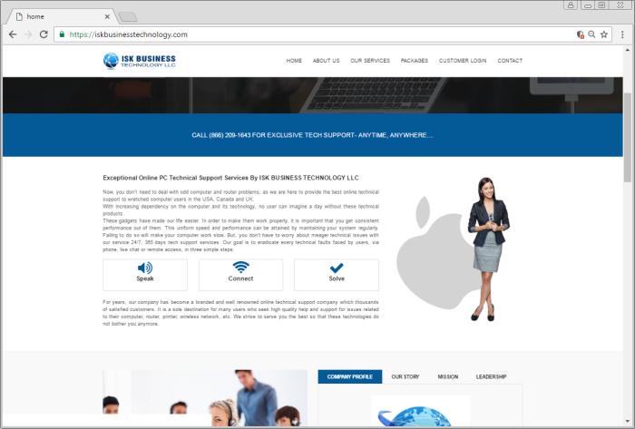iskbusinesstechnology.com page