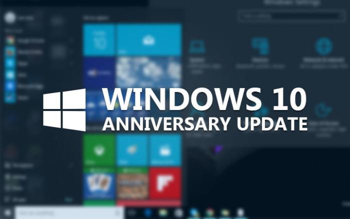 fix Windows Anniversary update