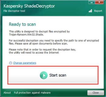 Kaspersky ShadeDecryptor
