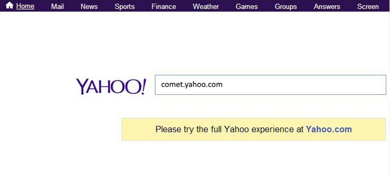 Waiting for comet.yahoo.com page