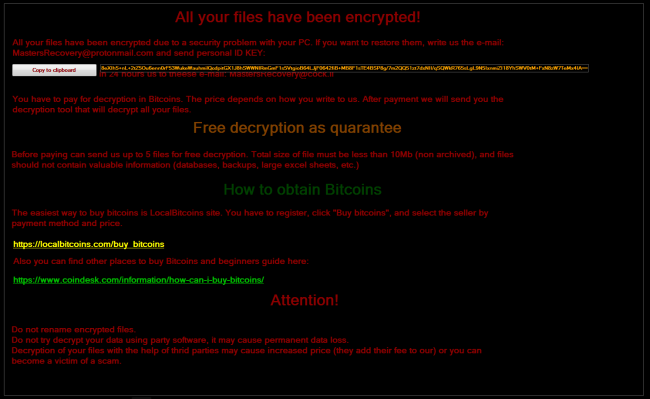 Spartacus ransomware