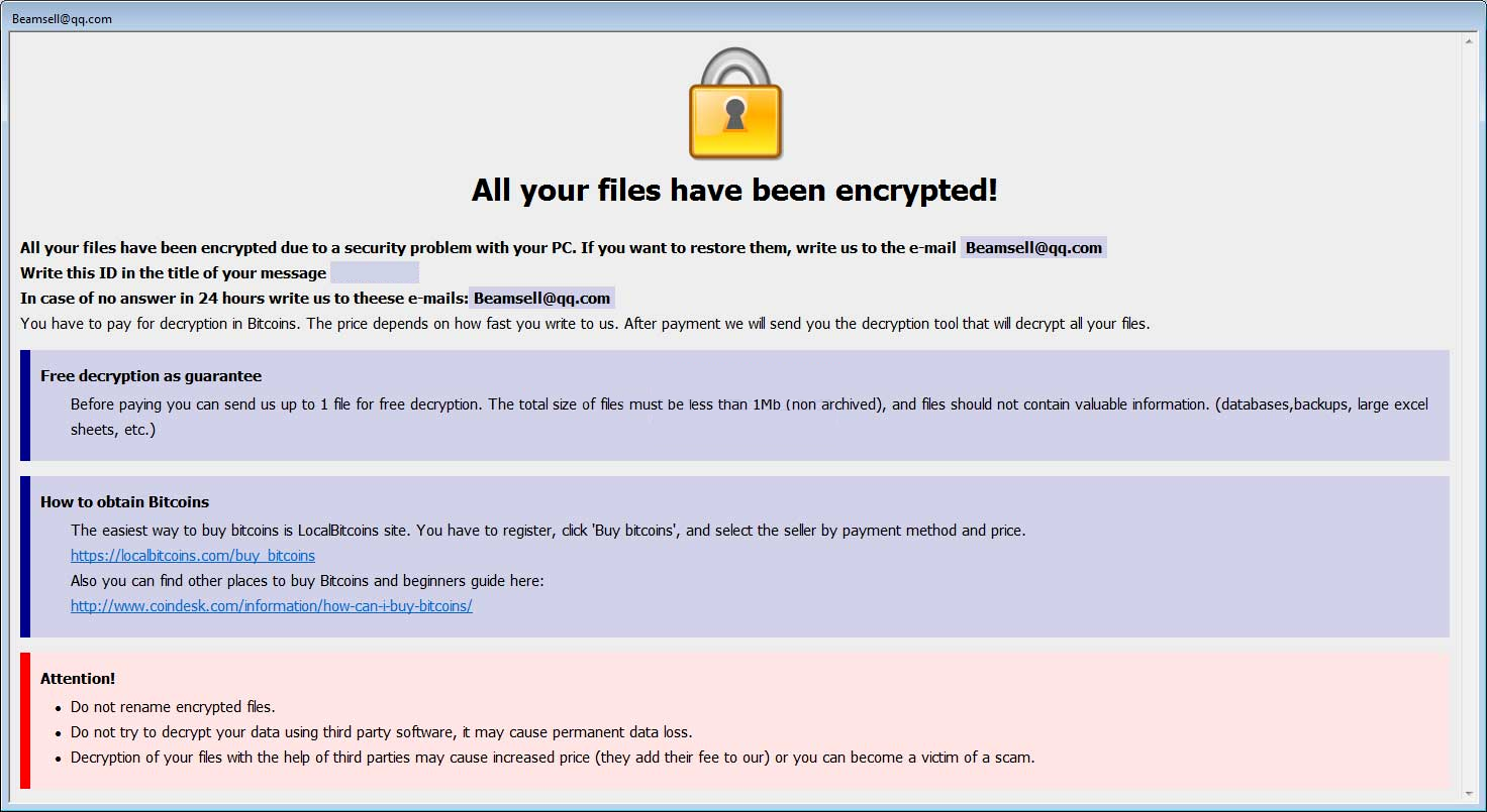 Bip ransomware
