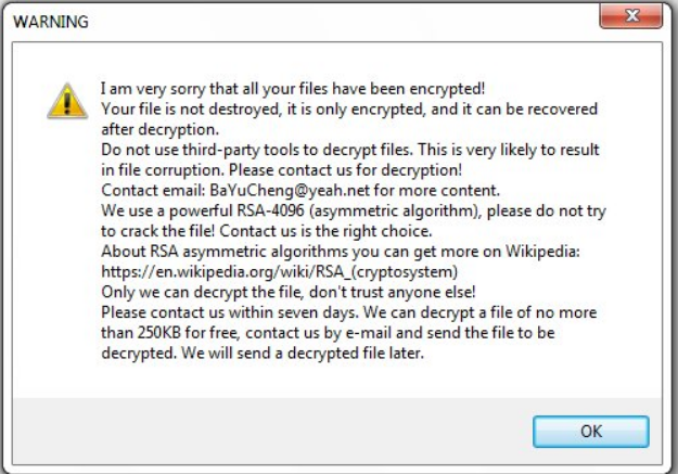 XiaoBa ransomware