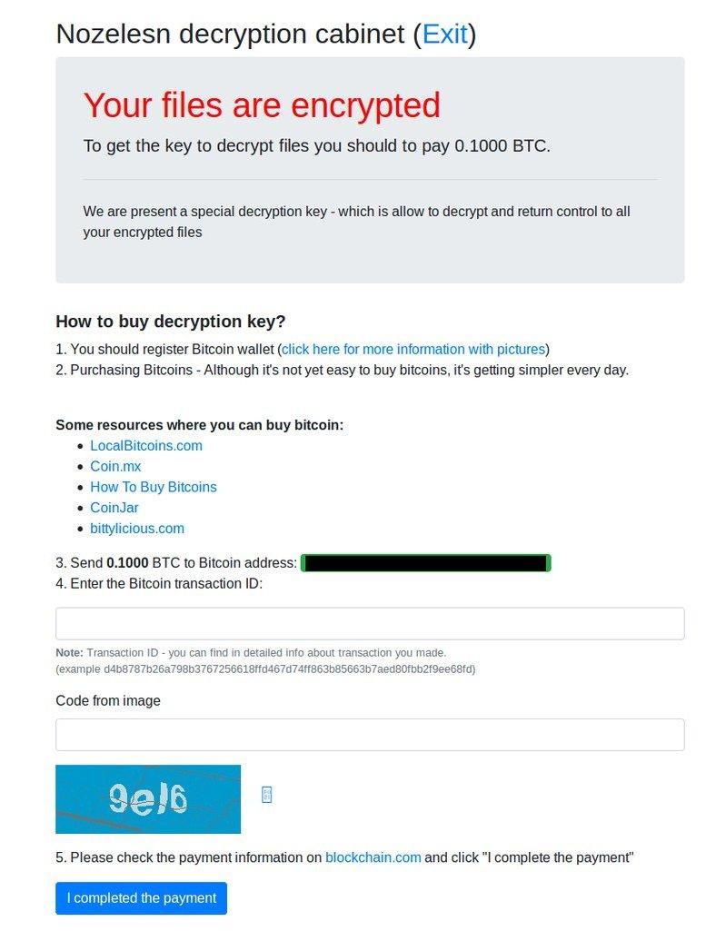Nozelesn ransomware