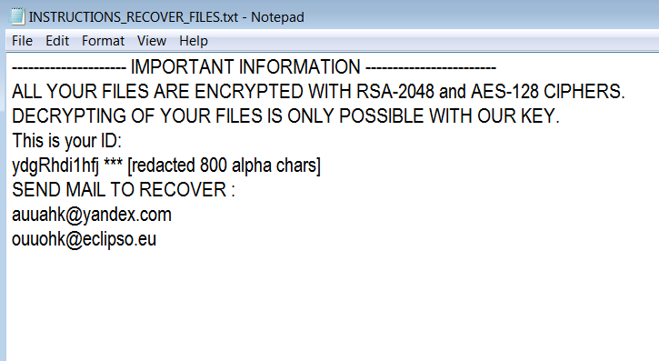Auuahk-Ouuohk ransomware