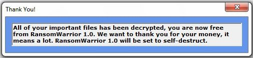 RansomWarrior ransomware