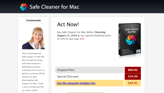 remove Safe Cleaner for Mac