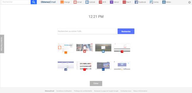 Obtenez Email New Tab
