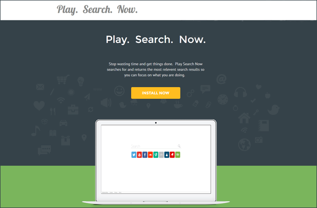 Play Search Now page