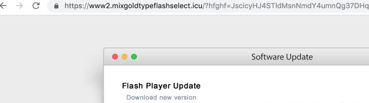 remove Mixgoldtypeflashselect.icu adware