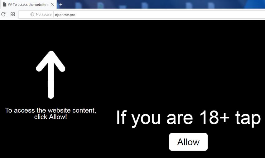 Delete https://Openme.pro, p8.Openme.pro, p7.Openme.pro, w986.Openme.pro, h64r.Openme.pro, sphy.Openme.pro, oz4x.Openme.pro, n9m9.Openme.pro virus notifications