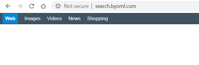 Search.byoml.com page