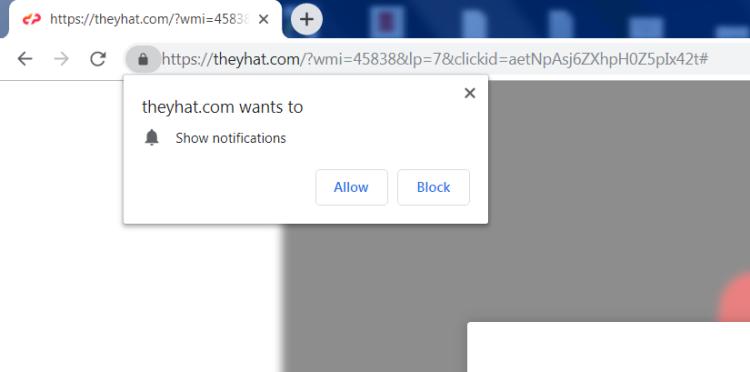 Delete https://Theyhat.com, p8.Theyhat.com, p7.Theyhat.com, w986.Theyhat.com, h64r.Theyhat.com, sphy.Theyhat.com, oz4x.Theyhat.com, n9m9.Theyhat.com virus notifications