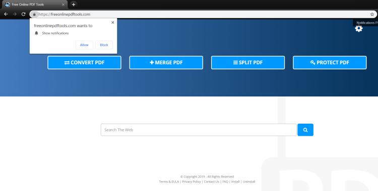 delete Freeonlinepdftools.com virus
