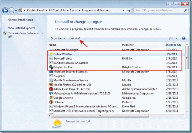 delete malware virus