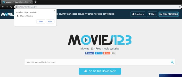 delete Movies123.pro virus