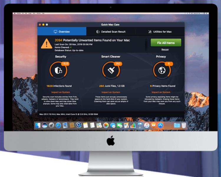 remove Quick Mac Care