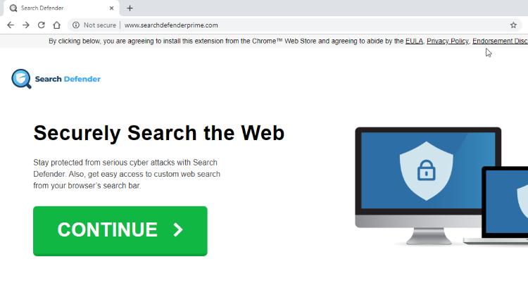 delete Searchdefenderprime.com virus