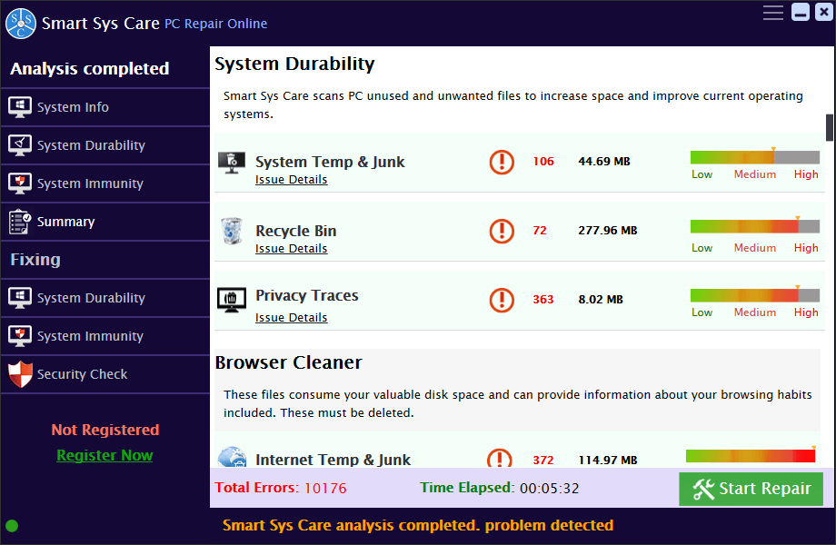 Smart Sys Care GUI
