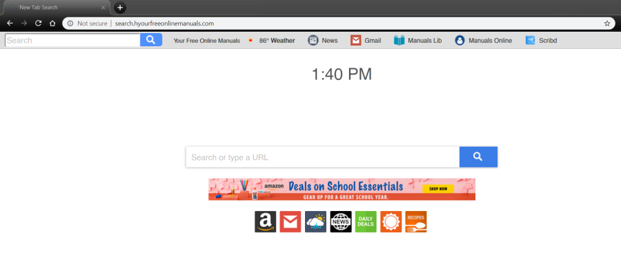 delete Search.hyourfreeonlinemanuals.com virus