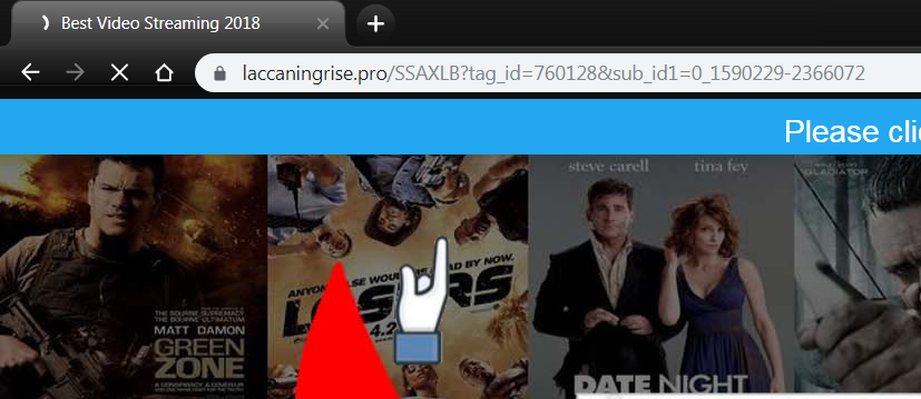 Delete Laccaningrise.pro virus notifications