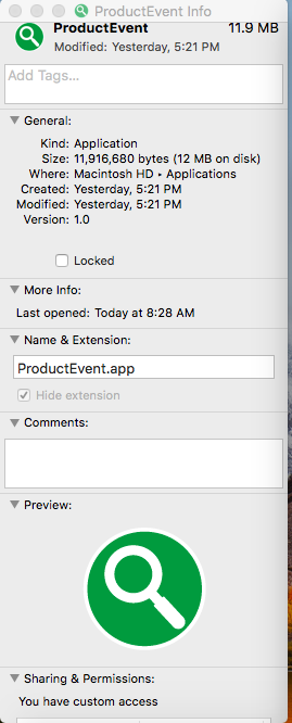 Delete ProductEvent.app virus from Mac