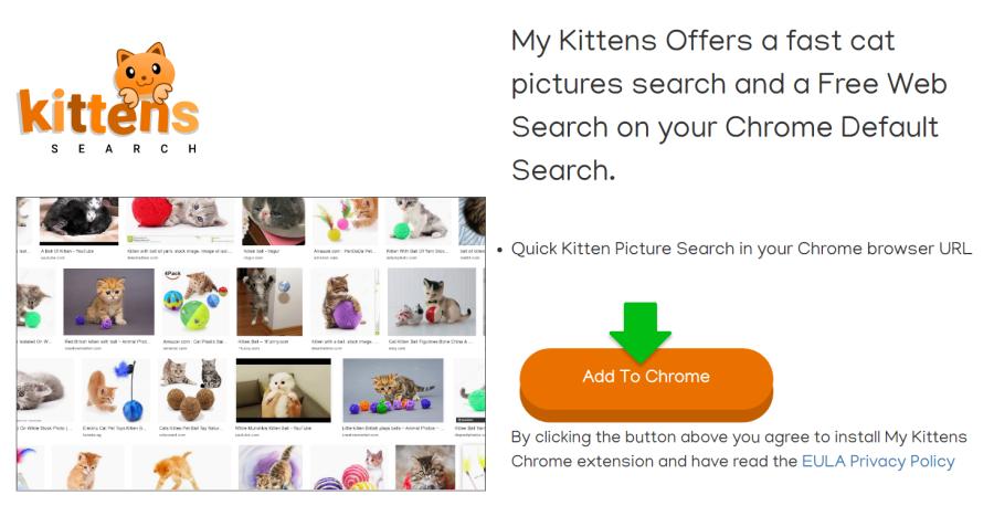 eliminar el virus Searchforkittens.com
