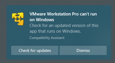 fix error VMware Workstation Pro can't run on Windows