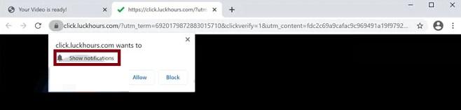 remove luckhours.com ads